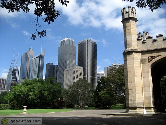 View of the Sydney skyscrapers from Governement House