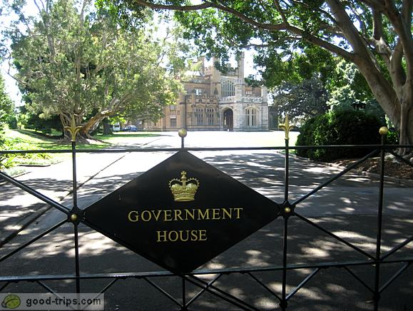 Entrance into Governement House area