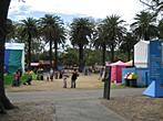 Melbourne - Gardens on the left bank of Yarra River (Alexandra, Queen Victoria, Kings Domain) -