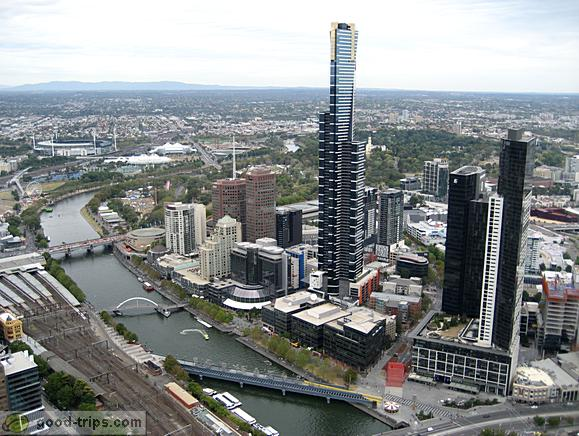 Yarra River, Eureka Tower, Melbourne Park, Royal Botanic Gardens