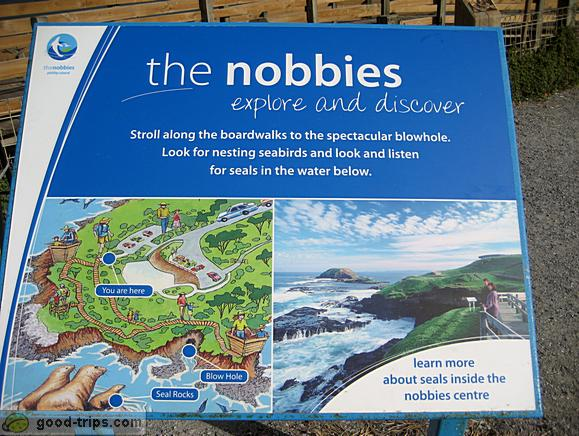 Nobbies - Infomation board with map