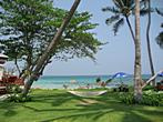 Koh Samui - Thongtakian Beach - Promtsuk Buri - Hammock and Thongktakian Beach on Koh Samui in background